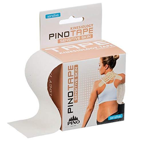 Pinotape Pro Therapy ® - Das Original - Kinesiologie Baumwolle Tape verschiedene Farben und Designs 5 cm x 5 m, besonders hautfreundlich - Physio-Tape (Ungefärbt)