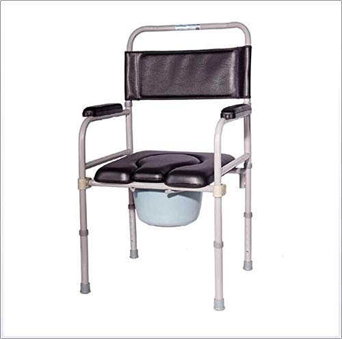 Bathroom Wheelchairs RRH Bedside Commodes Wheelchair Commode Chair Multi-Function Mobile Toilet seat Cushion Medical Assistance Elderly Disabled Rehabilitation Chair Bath Shower
