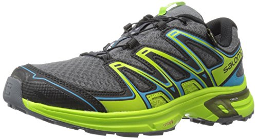Salomon L39030300, Scarpe da Trail Running Uomo, Grigio Dark Cloud/Granny Green/Scuba Blue, 42 EU