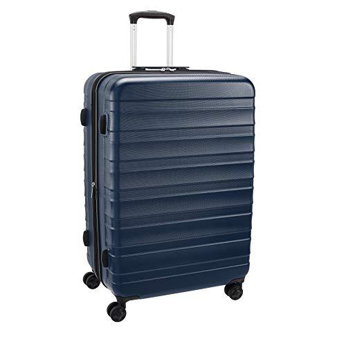 AmazonBasics Premium Robust Hardside Suitcase, 78cm - Blue