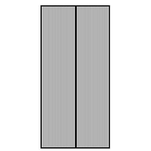 GUOGAI Mosquitera Magnética 110x200cm(43x79inch) Mosquiteras para Puertas Cierre Automático Sin Huecos para Cortina de la Puerta, Negro A