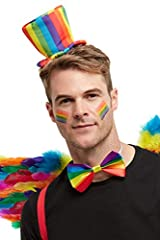 Includes Rainbow Mini Top Hat, Multi-Coloured, On Headband Only available in one size Our dedicated in-house Safety team ensure that all of our products are manufactured and rigorously tested to comply with the latest EU and American Safety standards...