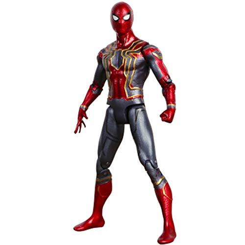 SONGDP Juguetes de anime Modelo de personaje de anime Spider-man articulado movible muñeca juguete adornos móviles personaje de dibujos animados adorno regalo colección artesanías, decoración del coch