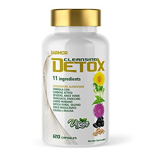 Detox Hígado e Intestino Drenante Depurativo Antioxidante Defensas Inmunes 120 Cápsulas Veganas