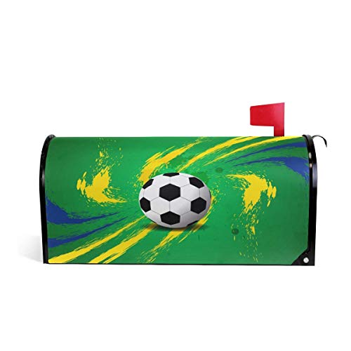 Treety Magnetic Mailbox Cover Sport Ball Football Soccer Home Garden Yard Outdoor Deco