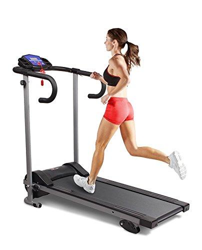 Hi-Performance New Motorised Electric 10km Treadmill Running Machine Folds Away Folding (Black and Grey)