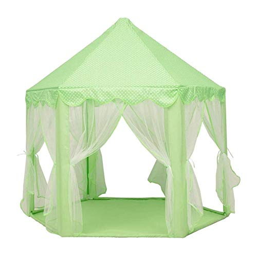 zvcv Mini Carpa para niños, Carpas Hexangular Princess Play Tent, Puerile Tent House Indoor Playhouse Ventilar Carpa Similar a una Malla en Verano