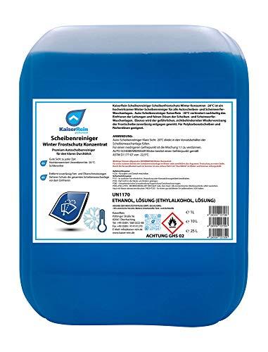 KaiserRein Scheibenreiniger Winter Frostschutz Konzentrat 10 L Premium Autoscheibenreiniger für den klaren Durchblick Auto KFZ Winter Scheibenwischwasser