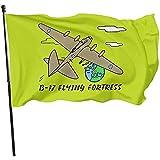AmyNovelty Flag Banner,Bomber-Flugzeug-Flaggen-Polyester-Flaggen-Fahnen-Fahnen Der Festungs-B-17 Ww2 Für Inneneinrichtung 180X120CM