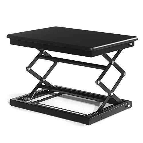Zjcpow Escritorio de pie ajustable de altura ajustable para computadora portátil, 50 cm de largo y 37 cm de ancho, mesa de trabajo ajustable (tamaño: tamaño libre; color: negro)