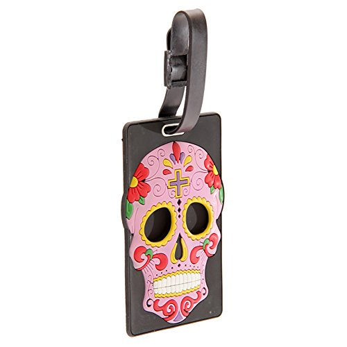 Day of the Dead Funky PVC Luggage Tag