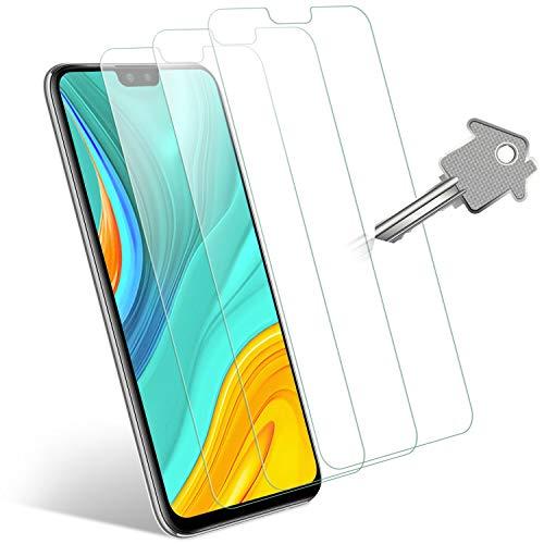 Wonantorna Protection écran pour Huawei Y8s/Honor 9X Lite Verre Trempé, [3 Pièces] [Ultra Clair] [sans Bulles] [Installation Facile] Vitre Protection d'écran pour Huawei Y8s/Honor 9X Lite