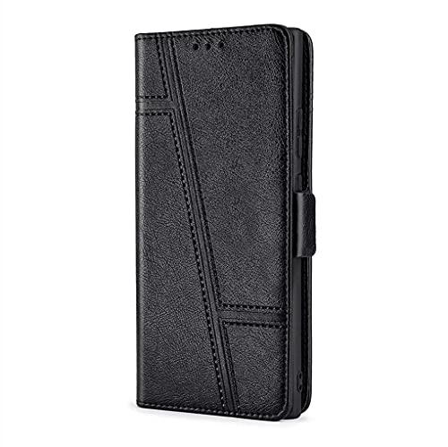 LINER Hülle für Xiaomi 11T Pro 5G/Xiaomi 11T 5G Handyhülle, Premium PU/TPU Leder Flip Brieftasche Schutzhülle mit Standfunktion/Kartenfach Tasche/Magnetisch Stoßfeste Lederhülle Klapphülle - Schwarz