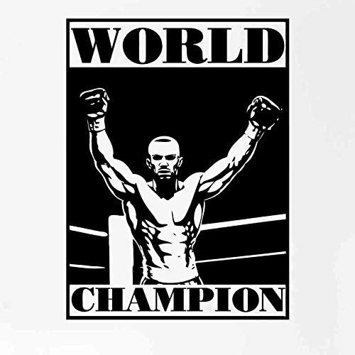Boxing Wandaufkleber Kickboxer Athlet Boxhandschuhe Kampfplakat Teen Schlafzimmer Wohnzimmer Wandtattoo Dekoration Phuket Auto Aufkleber 40x52cm