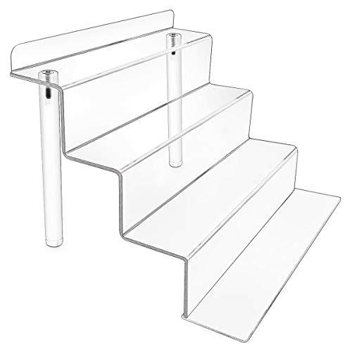 Masqudo Acryl-Display-Ständer, 2-in-1-Nutzung, Acryl-Riser, Display-Regal für Amiibo Funko Pop Figuren, Cupcakes Ständer für Schrank, Theken, Tisch (22,9 x 15,2 cm)