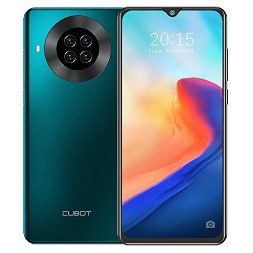 CUBOT Note 20 Pro Teléfono móvil 4G, 6,5 Pulgadas HD+ Pantalla, 8 GB RAM + 128 GB ROM, Octa-Core Procesador Helio P60, Android 10.0, 4200 mAh, Cuatro Cámara, Dual SIM, NFC, Face ID,Verde