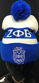 New Zeta Phi Beta Winter Knit Beanie w/Pompom