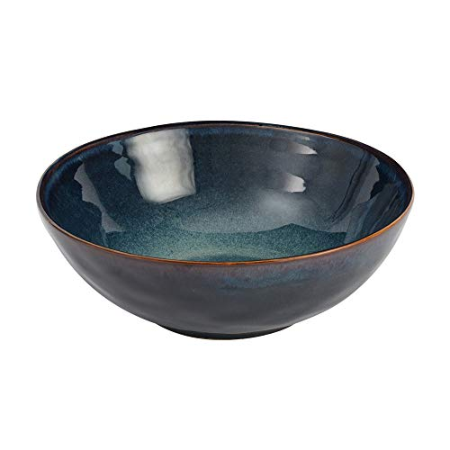 ProCook Vaasa Steinzeug - Schale - Steingut - 23 cm - blau - Schale - Tafelservice - reaktive Glasur - Salatschüssel