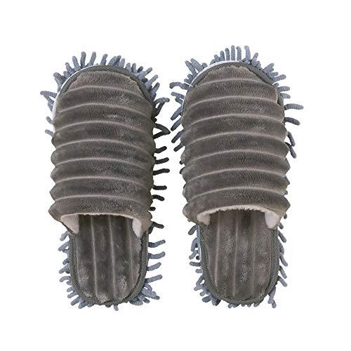 Las Mujeres Fregona De Polvo De Los Deslizadores Calcetines De Microfibra Casa Zapatillas Zapatos Perezosos Para Limpieza De Pisos Clean Tool