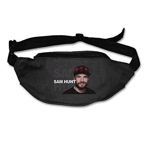 Money Belt Waist Bag For Men & Women - 2016 Best New Artist Sam Hunt Running Travel Ponch, Keys Cashes ID Card Ticket Holder Black