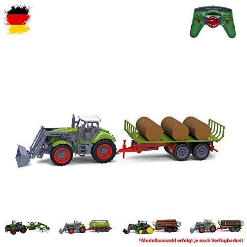 HSP Himoto XXL RC Ferngesteuerter Traktor mit Anhänger, Farmer Bauernhof Fahrzeug Transporter inkl. Fernsteuerung