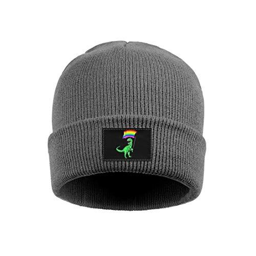 Rawr Pride Parade Gay & Lesbian Rainbow Flag Unisex Winter Watch Beanie Hat Beanie Hats for Men Women