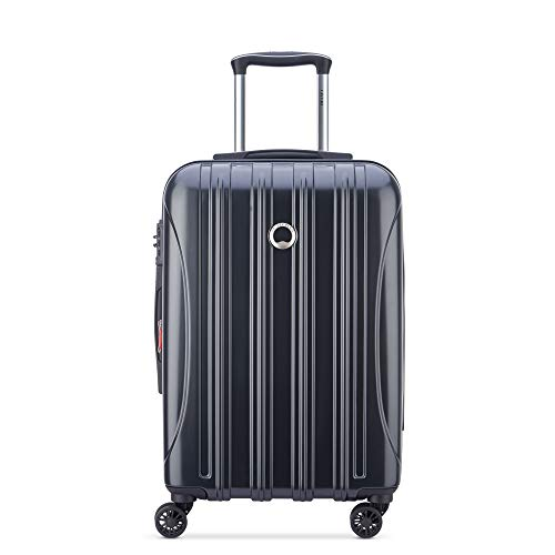 DELSEY Paris Helium Aero Hardside Expandable Luggage with Spinner Wheels, Matte Black, Carry-On 21 Inch
