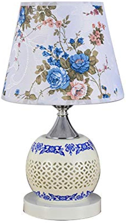 Tischlampe Keramische Schlafzimmer Nachttischlampe LED Warmes Licht Einfache Moderne Innendekoration Nachtlicht Farbe, Mit Fernbedienung (stufenlos Dimmen Farbe)