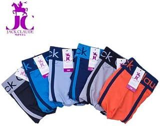 ODCOLTD Men's Boxer Briefs Breathable Elastic Silk Bright Color Shorts Underwear Navy Blue