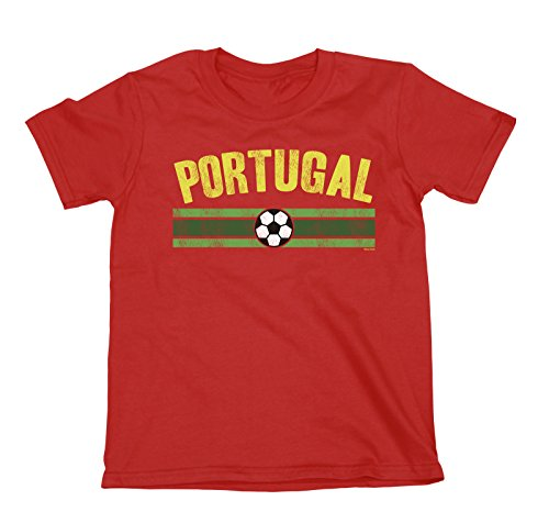 buzz shirts NIÑOS O NIÑAS Portugal Distressed Country FÚTBOL Camiseta Copa Mundial 2018 Kids Sports