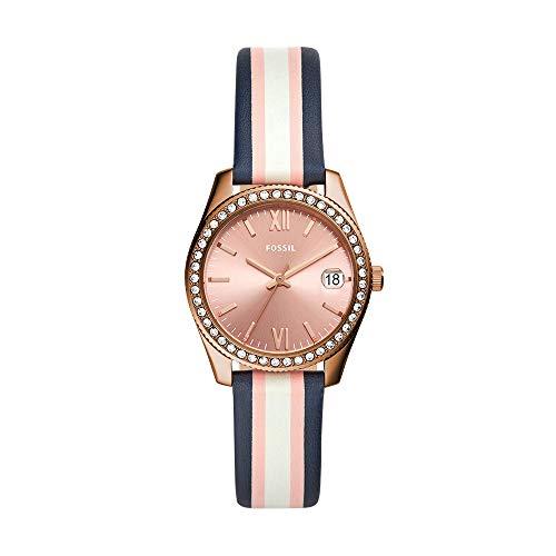 Reloj Fossil Scarlette para Mujer 32mm, pulsera de Piel de Becerro