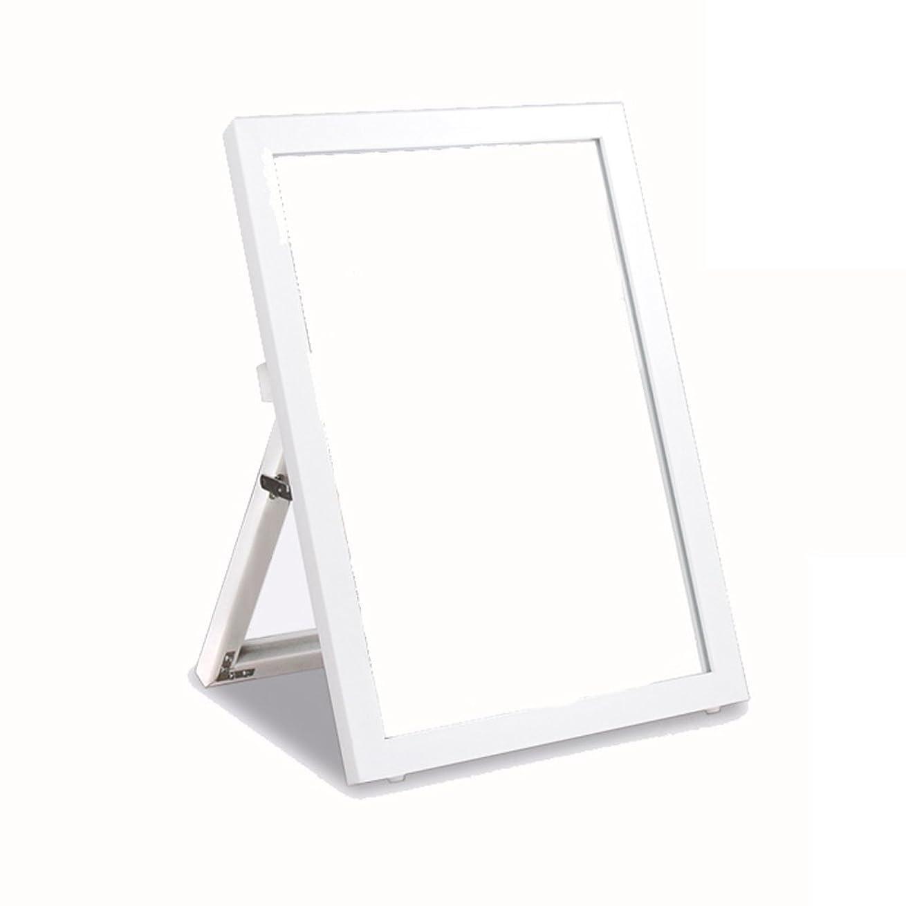 不利汚染する娘YBJPshop ブラケット付きブラケット、デスクトップバニティミラー/ランディングテスト用シューズミラー - 片面HD 美容鏡化粧室バスルーム (Color : White)