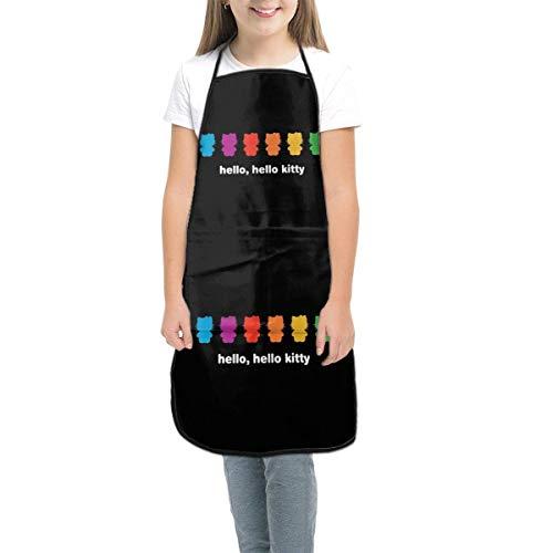 Sumptuous Delantal para niños – Hello Kitty – Delantales con bolsillos, delantales para niñas y niños para cocinar, hornear, pintura, jardinería, pequeño