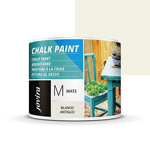 PINTURA EFECTO TIZA,CHALK PAINT, AL AGUA MATE, Renueva tus muebles con creatividad. (375ML, BLANCO ANTIGUO)