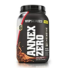 FORMULATED FOR SERIOUS ATHLETES: Elite Gold VIP Series Annex Zero is a high-quality protein with no added sugar and only 120 calories per serving formulated to optimize strength and maximize muscle recovery and growth while keeping you feeling full. ...