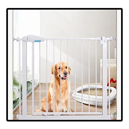 QIANDA Barrera Seguridad Niños Protector Escaleras, Ancho Ajustable Caminar A Través Puerta del Perro Auto Cerrado por Escaleras, Cocina, Puertas, Altura 75cm (Color : White, Size : 84-90cm)