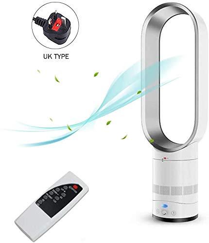 WYJW Ventilator ohne Klinge, 25,6 cm (25,6 Zoll), negative Ionen für die Sicherheit, Fußböden, Kühlung, Fernbedienung, Fan Tower für zu Hause / Desktop / Tabelle / Schlafzimmer / Baby-Kamera USA