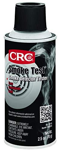 CRC 2105 Smoke Test Brand Liquid Smoke Detector Tester, 2.5 oz Aerosol Can, Clear