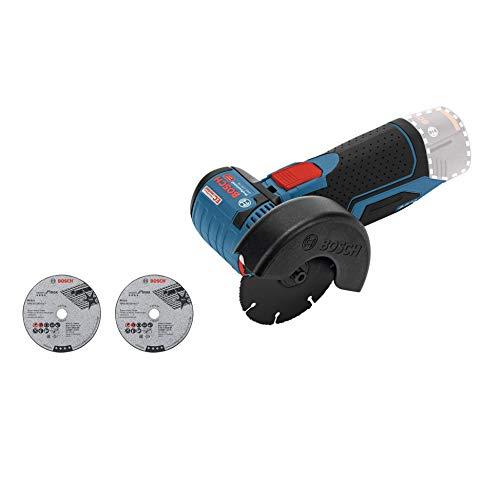 Bosch Professional 0.601.9F2.000 Smerigliatrice Angolare GWS 12V-76 12V System, 3 Mole da Taglio, Diametro: 76 mm, Batterie e Caricabatteria Non Inclusi