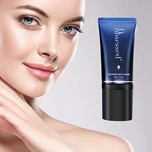 Gesichtscreme von D.obsessed - Hautfeuchtigkeit Formel mit Schneckenschleim, Hyaluronsäure, Niacinamid, Squalen & Folsäure - Hochwirksame, Anti-Aging, Feuchtigkeitsspendend für Damen und Männer (50g)