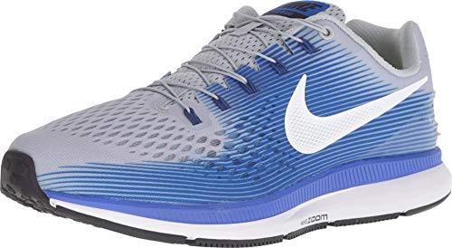 Nike Men's Air Zoom Pegasus 34 Flyease Running Shoe (9, Wolf Grey/White - Racer Blue)