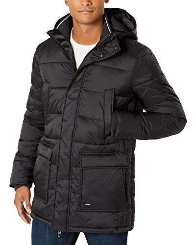 CALVIN KLEIN Men's Water Resistant Hooded Puffer Jacket