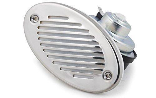Fiamm 12 Volt Signalhorn elektrisch 105dB Edelstahl Hupe Boot Horn Bootsfanfare Bootshupe Signalhorn Nebelhorn