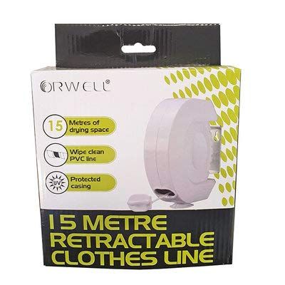 Orwell 15M Retractable Washing Line Indoor Outdoor Strong Clothes Line