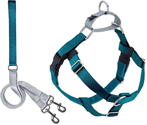 2 Hounds Design Freedom No Pull Dog Harness | Adjustable Gentle Comfortable Control for Easy Dog Walking |for Small Medium and Large Dogs | Made in USA | Leash Included | 1