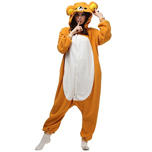 Adulte Unisexe Kigurumi Pyjama Tenue Onesie Cospaly Halloween Costume Soiree de Deguisements Ours...