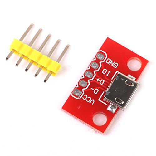 Amagogo Cargador de Teléfono Móvil Convertir Módulo de Alimentación Micro-B USB para SO