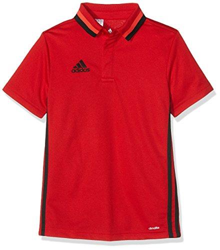 adidas Poloshirt Condivo 16 CL Polo, niños, Rojo (Escarl/Negro), 164