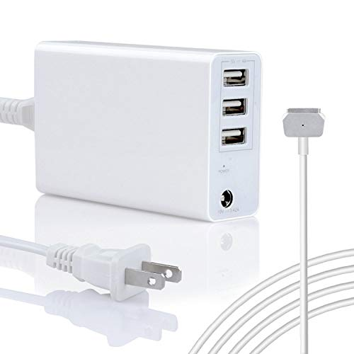 Wakeach 45W/60W USB Charger for MacBook Air 11 13 inch MacBook Pro 13inch(After 2012 Mid), Replacement for Magsafe 2 Power Adapter T-Tip Connector,MacBook Power Supply Portable Travle Wall Charger