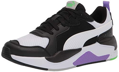 PUMA mens X-ray Sneaker, Puma Black-puma White-fluo Green-luminous Purple, 12 US
